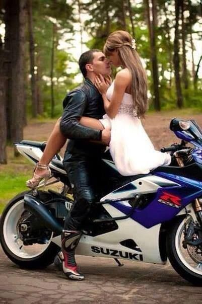 Some hot engagement or after wedding photos...with my bike in the background or something of course!!