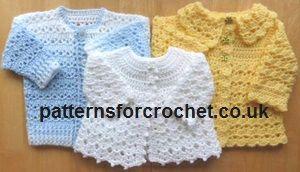Free e-book for 3 matinee coats when you follow #patternsforcrochet