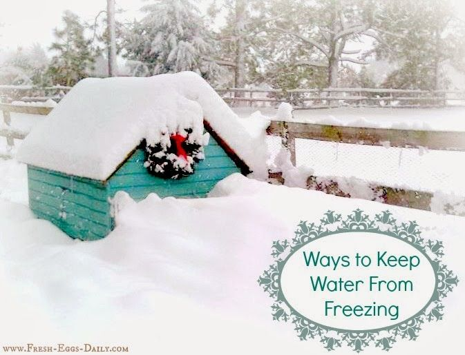 how to keep water from freezing outside