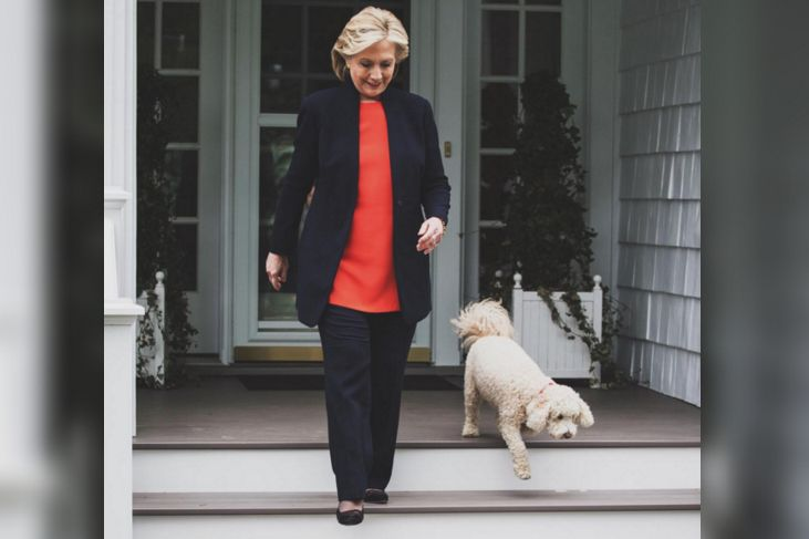 Hillary Clinton and her poodle :)