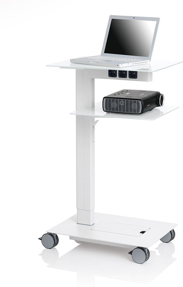 Steelcase mobile projector laptop stand industrial for Portable projector for laptop
