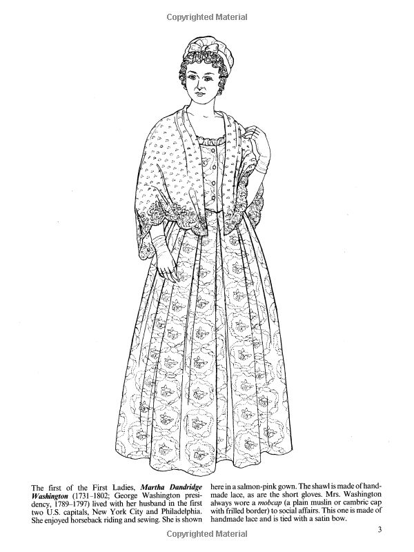 fashions of the first ladies dover fashion coloring book ming ju sun - Fashion Coloring Book