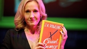 Casual Vacancy to become BBC One drama, tentative air date in 2014. - JK Rowling holds new novel