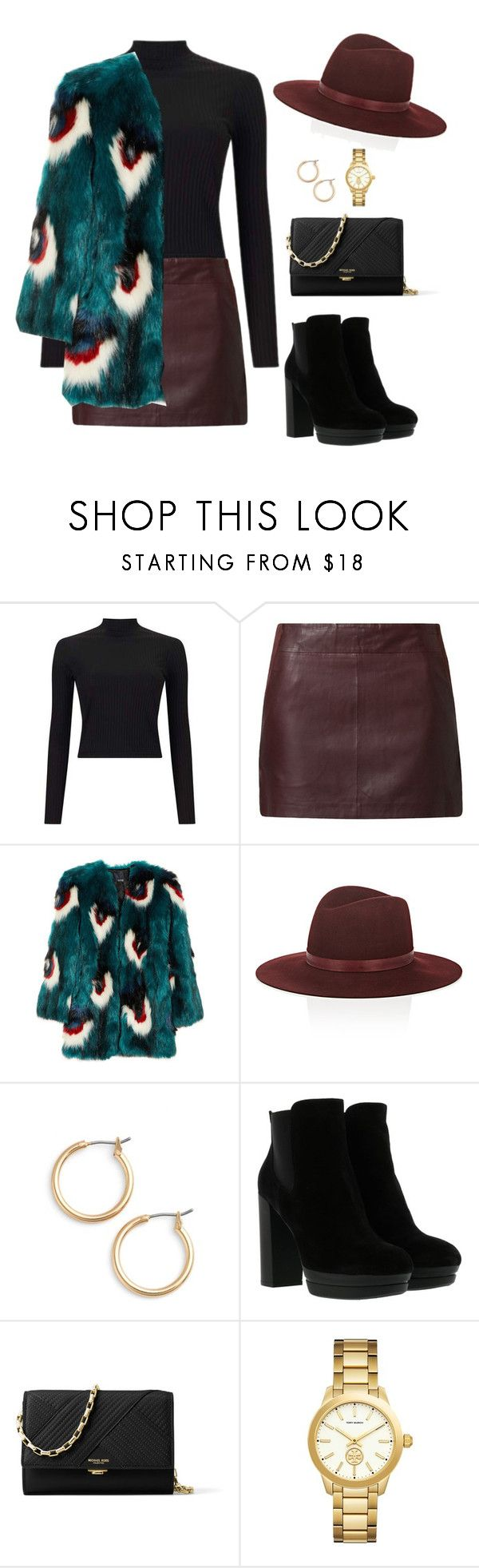 """""""Outfit"""" by caa123 ❤ liked on Polyvore featuring Miss Selfridge, Naf Naf, Meadham Kirchhoff, Janessa Leone, Nordstrom, Hogan, Michael Kors and Versace"""