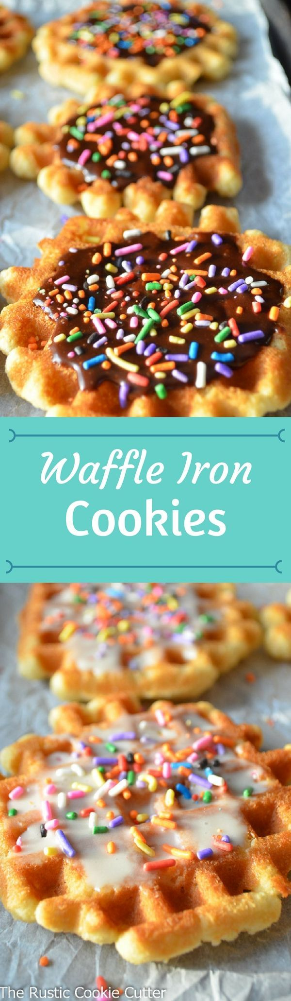 Waffles for dessert?!? Who would have thought you could make Waffle Iron Cookies! ln only 2-3 minutes.