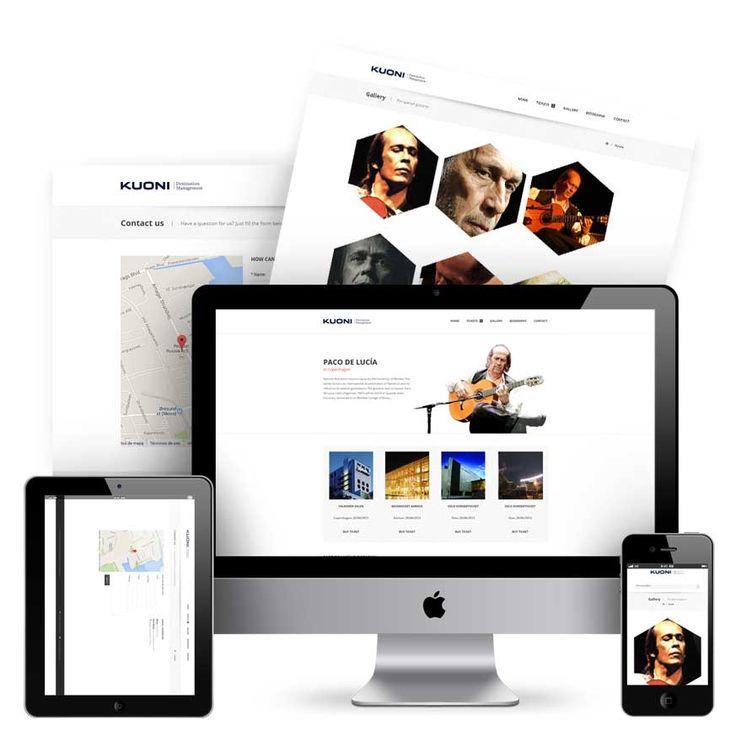 Pagina web para la gira de Paco de Lucia en 2013 por Europa