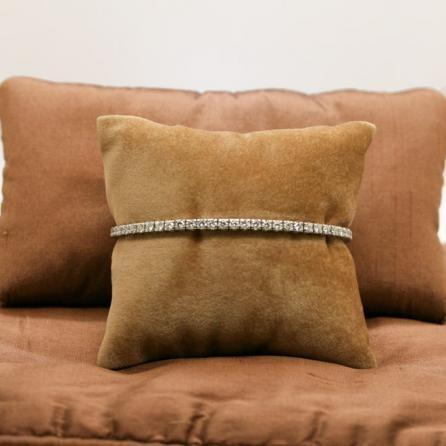 Bracciale Tennis oro bianco e diamanti taglio brillanti