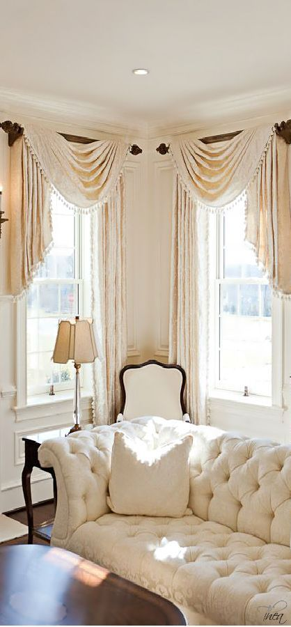 17 best images about b decorating drapes curtains - Swag valances for bathroom windows ...
