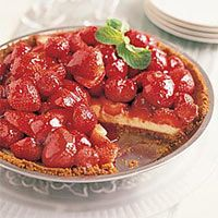 Strawberry Cheese Pie - Strawberry Recipes - Country Living