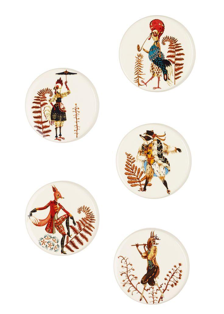 Tanssi Wall plates 12 cm Klaus Haapaniemi