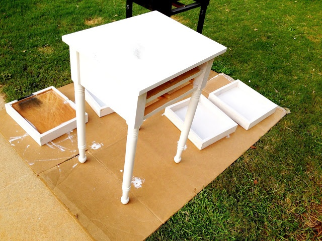 DIY Painting Unfinished Furniture