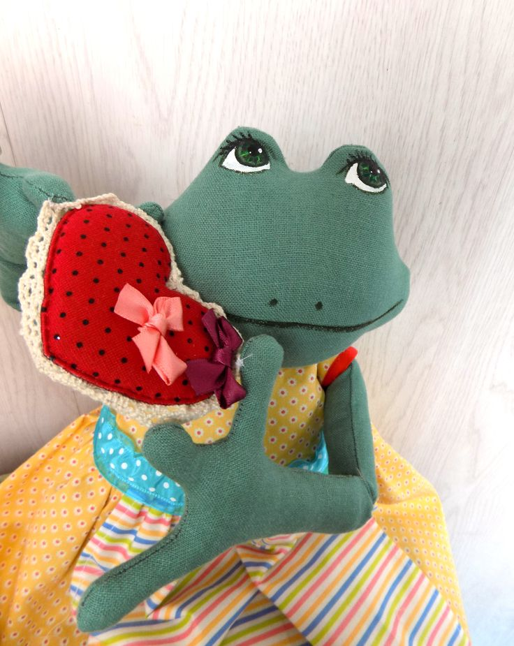Frog. doll packetize. Лягушка-пакетница
