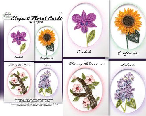Quilling Kit : #425 Elegant Floral Cards