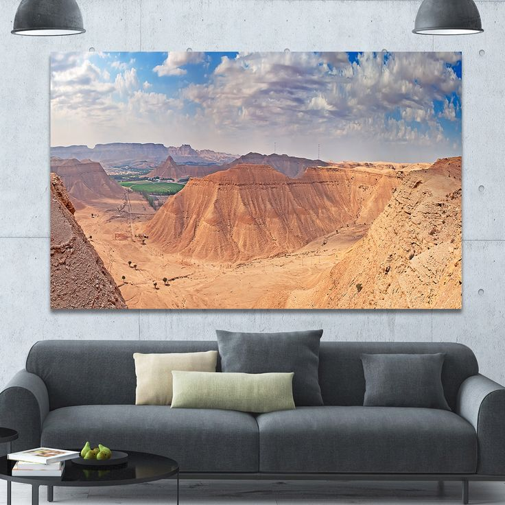 Design Canvas Art Print 'Clay Rocks around Riyadh City' Extra Landscape Canvas Art Print