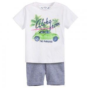 MAYORAL komplet dzianina koszulka samochód 3618 23