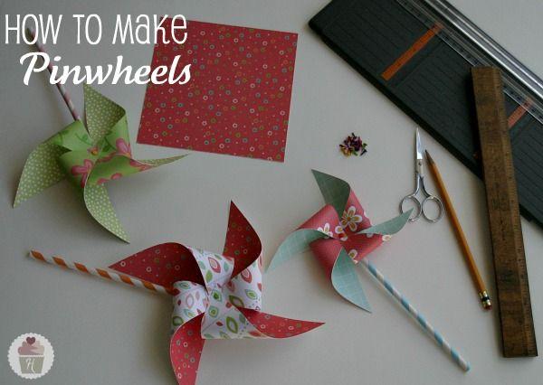 Pinwheel tutorial - perhaps interspersed with vintage-looking weekly pics?