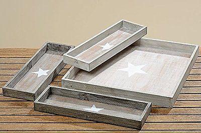 Tablett Sterne Holz