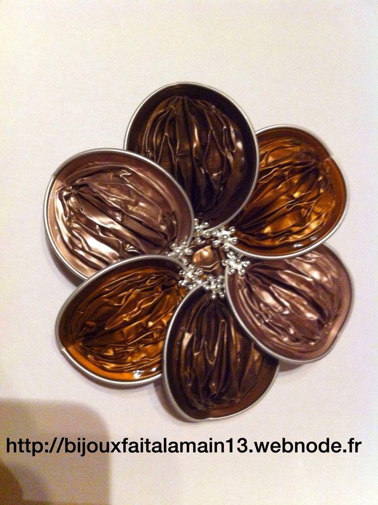Galerie photos :: Bijouxfaitalamain13 Broche/bracelet avec des capsules de Nespresso