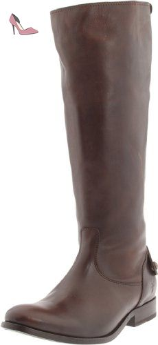 FRYE femmes Melissa Button Back Zip Knee-High démarrage,Dark marron Smooth Vintage Leather,11 M US - Chaussures frye (*Partner-Link)
