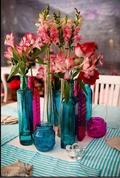 Como pintar garrafas de vidro transparente