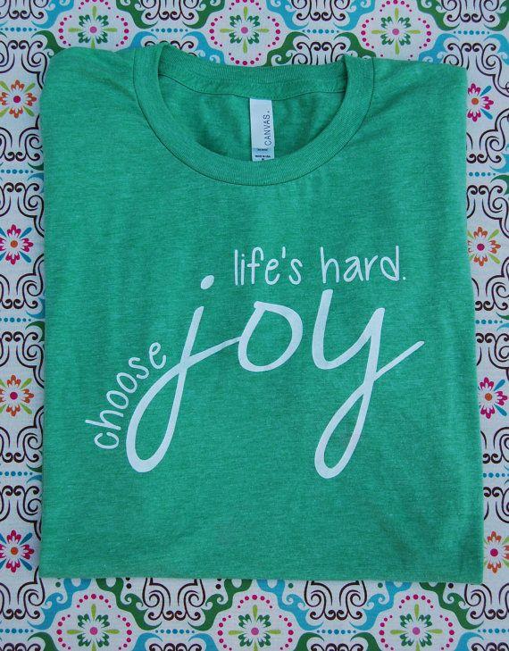 Choose Joy Triblend Short-Sleeve T-Shirt by SimpleTruthsDesigns
