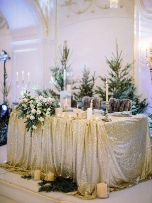 Зимняя свадьба, декор