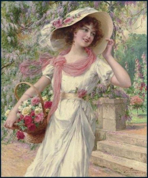The Flower Garden...Emile Vernon (1872-1919, French)