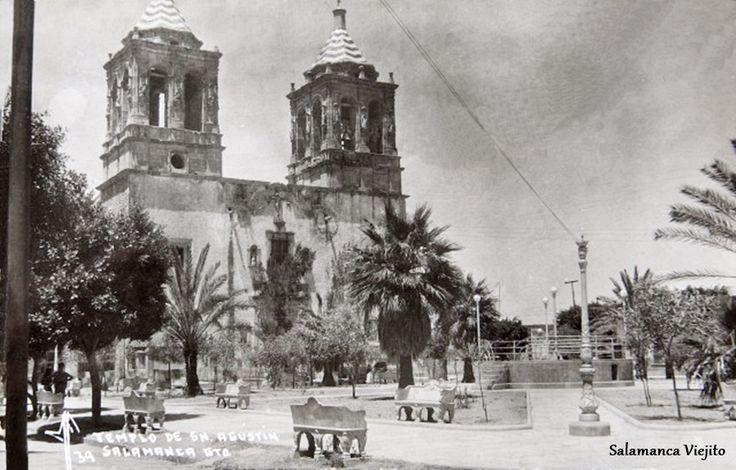 Templo de san agustin y jardin en salamanca guanajuato for 7 jardines guanajuato