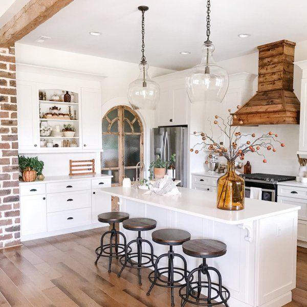 Flynn Recycled Glass Pendant Pottery Barn Farmhouse Style Kitchen Pottery Barn Kitchen Kitchen Design