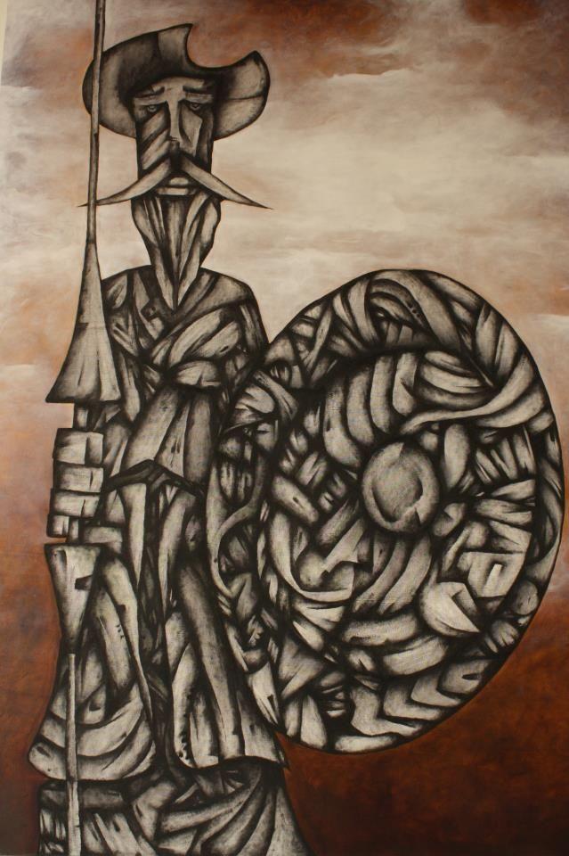 Añoranza de Quijote Andres Andrade Oleo sobre lienzo Cali - Colombia