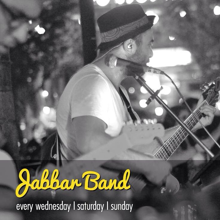 Jabbar is on stage every Wednesday...