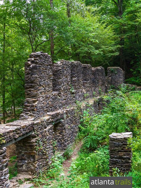 Top Atlanta kid-friendly hikes: explore the ruins of a Civil War paper mill at Sope Creek Park near Marietta, GA