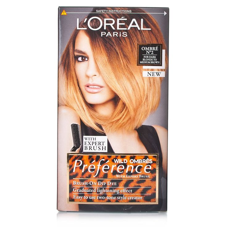 L'oreal Preference Wild Ombres Dip Dye Hair Kit (No-2 Dark Blonde to Medium Brown) ** Click image for more details.