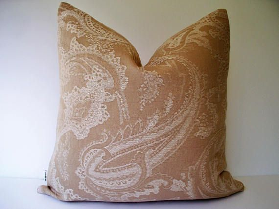 Solid Tan Pillow Neutral Pillow Cover Taupe Pillow Cover Tan