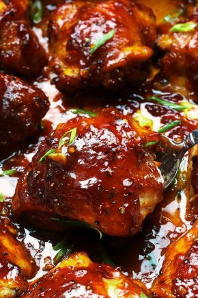 Baked Teriyaki Chicken - An easy chicken dinner baked in the oven with a sticky homemade teriyaki sauce.