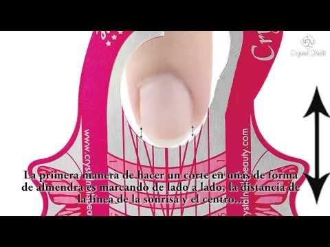 Colocar el molde para la construcción de uñas artificiales. - YouTube