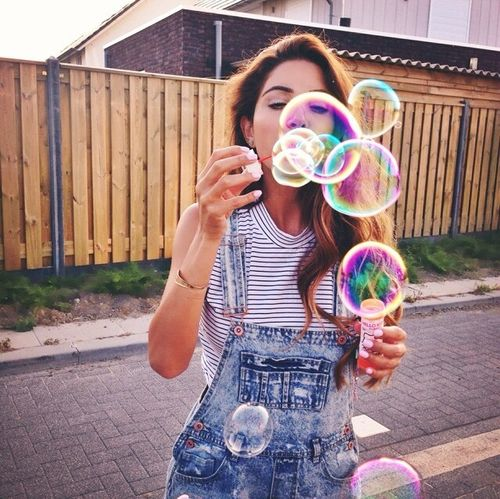 Stripes: Picture, Fashion, Girl, We Heart It, Bubbles, Summer Vibes, Things, Photo Idea, Photography