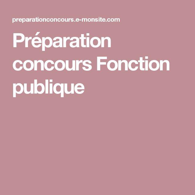 Préparation concours Fonction publique