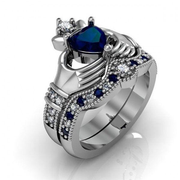 33 best Claddagh wedding sets images on Pinterest Celtic rings