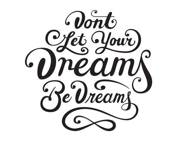 Dreams Be Dreams by Christopher Vinca, via Behance