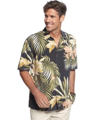 Tommy Bahama Shirt, Moon Over Laguna Graphic Print Shirt - Mens Casual Shirts - Macy's