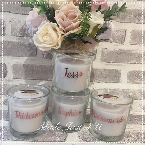 Bridesmaid Gift Personalised Candle Scented Candle Bridesmaid Gifts Wedding Candle Candle Wedding Thank You Gift Personalized Candles Wedding Thank You Gifts Personalized Bridesmaid Gifts
