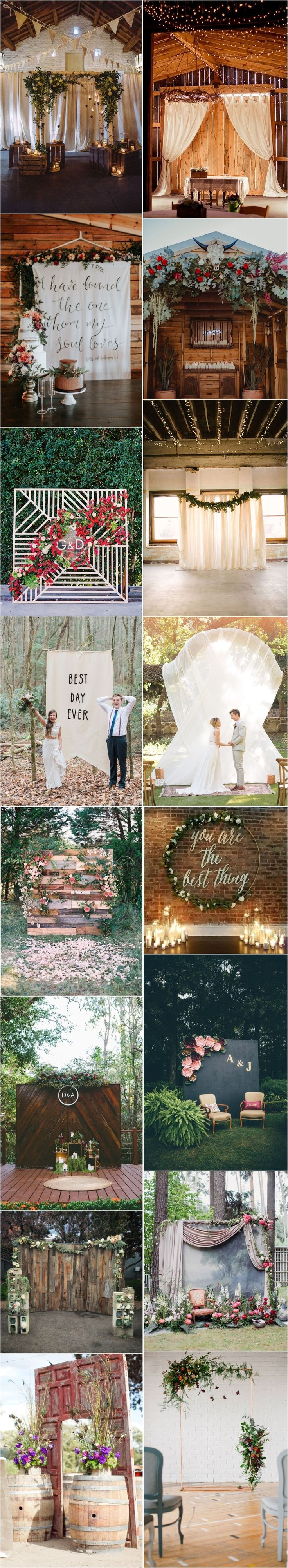 Best Wedding Backdrops Images On Pinterest Marriage