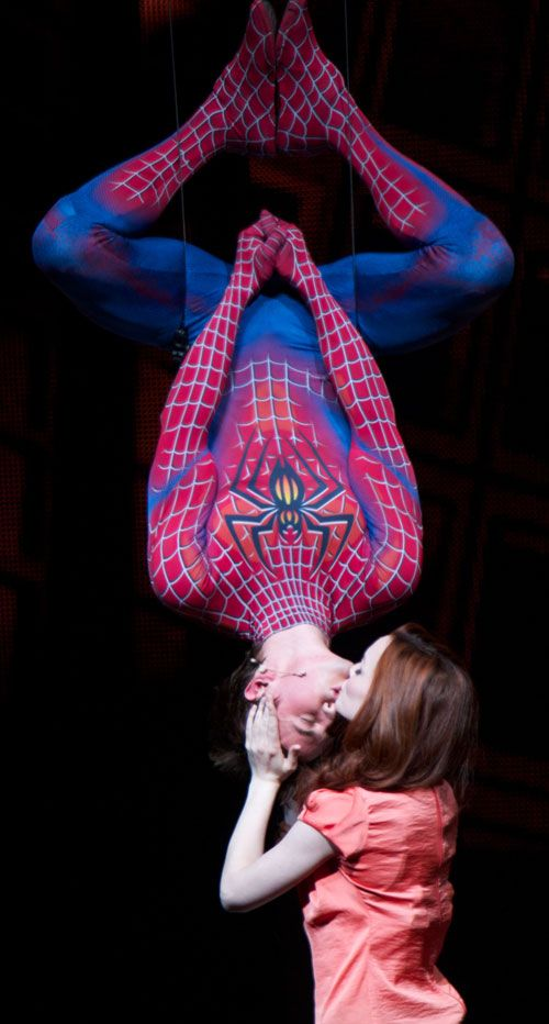 Spiderman- Turn off the dark! Another musical I saw in NY NY. So sweet, the final kiss with MJ!