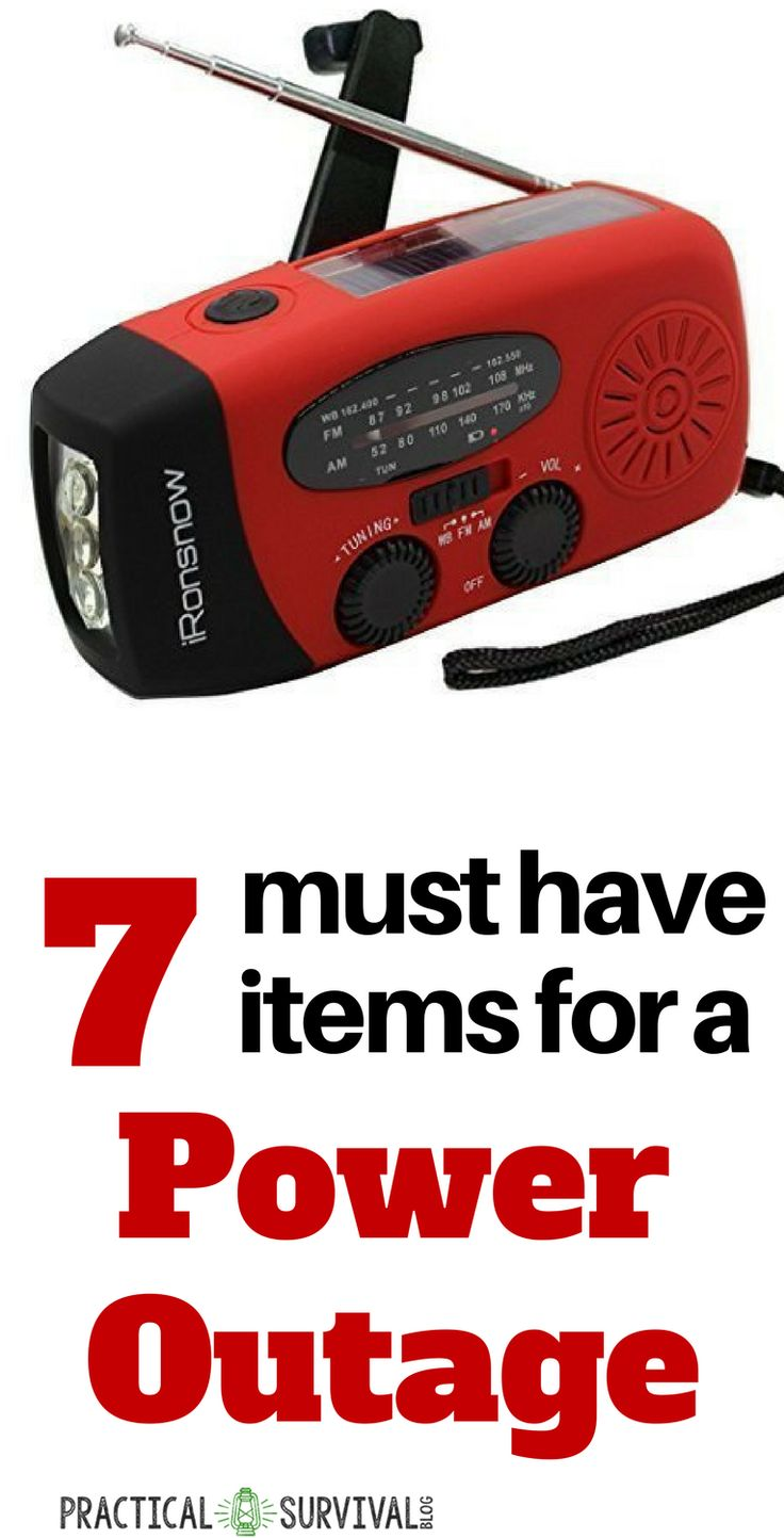 7 must have items for a power outage.  Make sure you have these items when the power goes out.