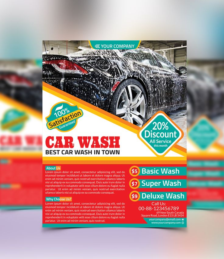 Cars, Flyers And Car Wash