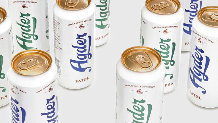 Packaging design by Oslo-based Frank for Norwegian craft beer Agder Fatøl and Skutepils