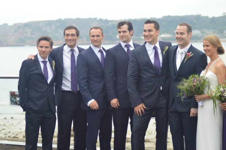 The bestmen ,Henry, Simon, nik and piers  . And the groom Charlie and bridesmaids, me and friends. I was at the end.