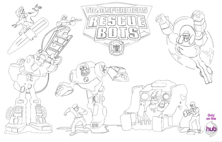 Salvage Rescue Bots Coloring Pages