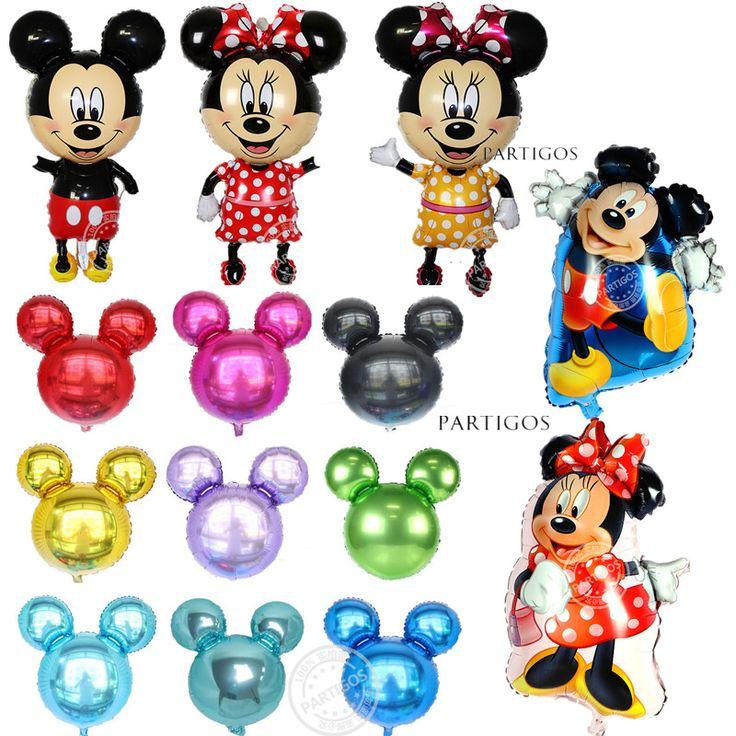 Large Mickey Minnie Mouse Minions Princess Spongebob Balloon Hello Kitty Cartoon Helium Foil Birthday Party Decor Child Gifts